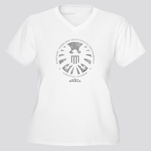 Marvel Agents of Women's Plus Size V-Neck T-Shirt