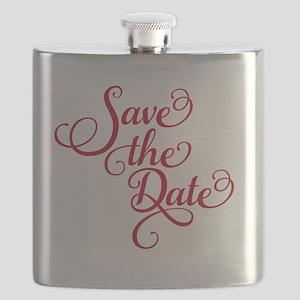Save the date, text design, word art, invita Flask