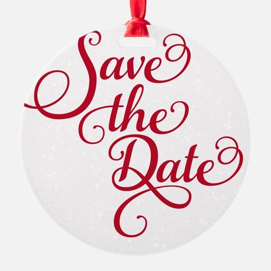 Save the date, text design, word ar Ornament