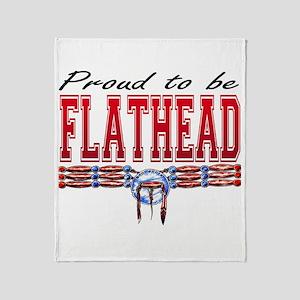 Proud To Be Flathead Throw Blanket