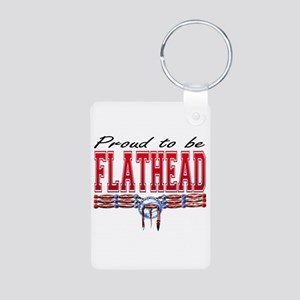 Proud To Be Flathead Aluminum Photo Keychain