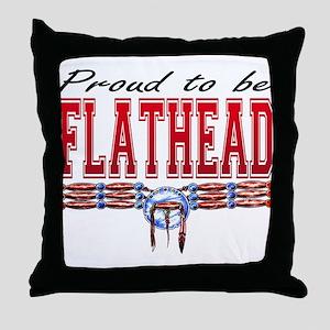 Proud to be Flathead Throw Pillow