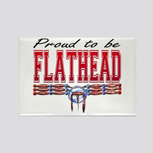 Proud to be Flathead Rectangle Magnet