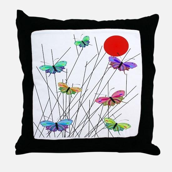 butterflies BEST SHower curtain Throw Pillow