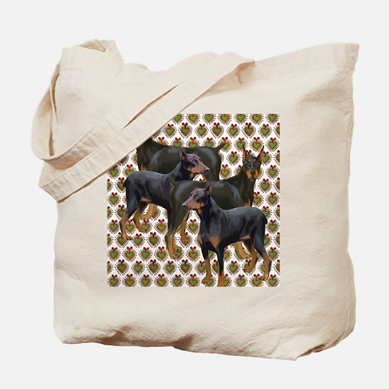 doberman grouping Tote Bag