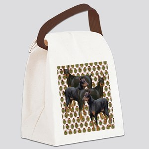 doberman grouping Canvas Lunch Bag