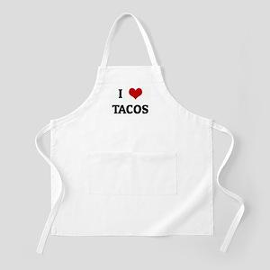I Love TACOS BBQ Apron