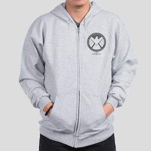 Metal Shield Zip Hoodie