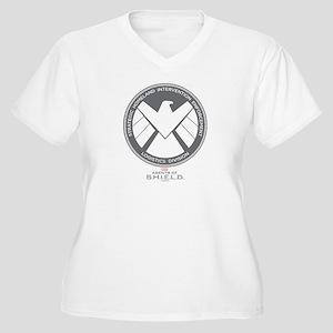 Metal Shield Women's Plus Size V-Neck T-Shirt