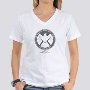 Metal Shield Women's V-Neck T-Shirt