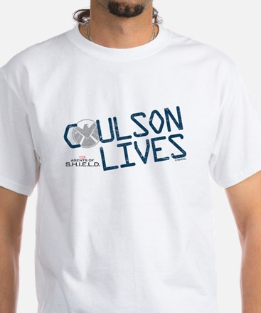 Coulson Lives White T-Shirt