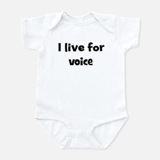voice teacher Infant Bodysuit