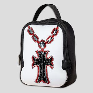 Rosary (red/black) Neoprene Lunch Bag