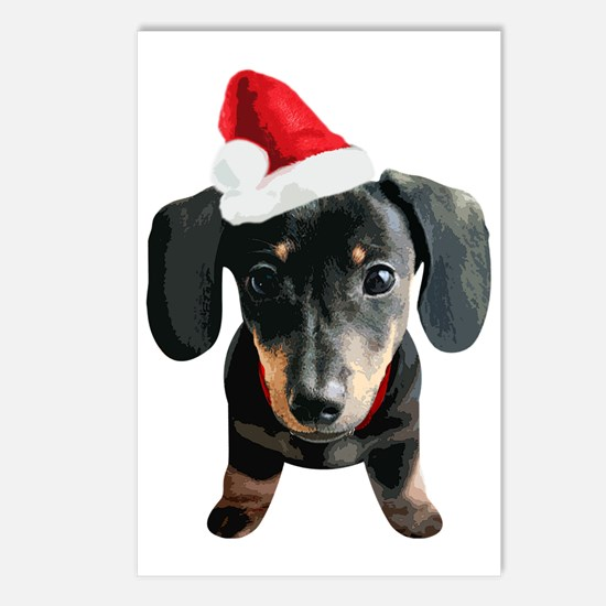 Dachshund_Xmas_001 Postcards (Package of 8)