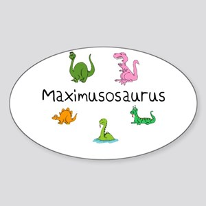 Maximusosaurus Oval Sticker