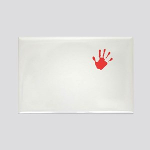 Hands off Syria Rectangle Magnet