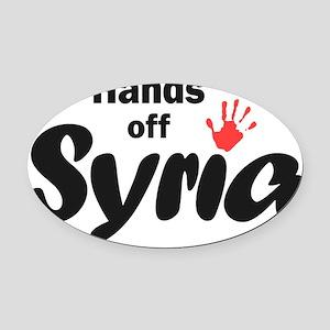 Hands off Syria Oval Car Magnet