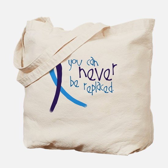 Suicide Awareness-Never Replaced Tote Bag