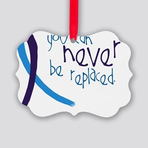Suicide Awareness-Never Replaced Picture Ornament