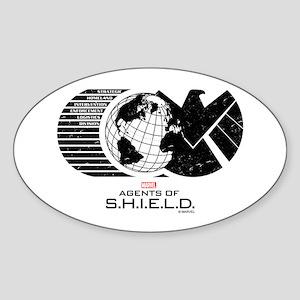 S.H.I.E.L.D. Sticker (Oval)