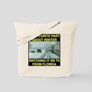 Watching It On TV In FLA Tote Bag