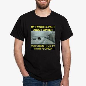 Watching It On TV In FLA Dark T-Shirt