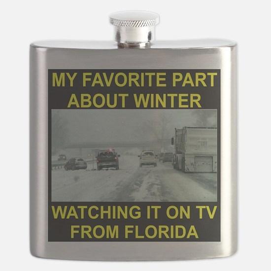 Watching It On TV In FLA Flask