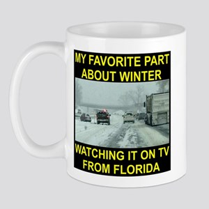 Watching It On TV In FLA Mug