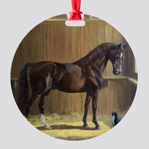 Marco and Sneaker Round Ornament