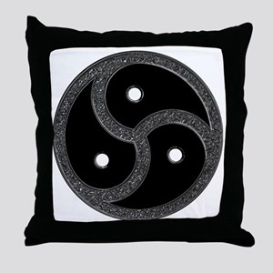 Chrome Look - BDSM Symbol Throw Pillow