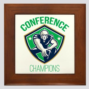 American Football Snap Conference Champions Framed