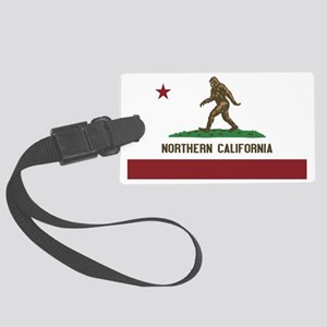 Northern California Bigfoot Large Luggage Tag