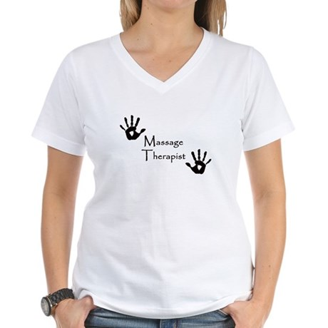 Handprints Women's V-Neck T