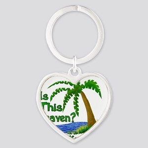 Is This Heaven? Heart Keychain