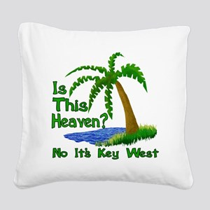 Is This Heaven? Square Canvas Pillow