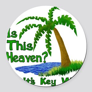 Is This Heaven? Round Car Magnet