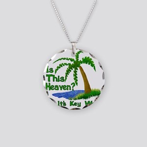 Is This Heaven? Necklace Circle Charm
