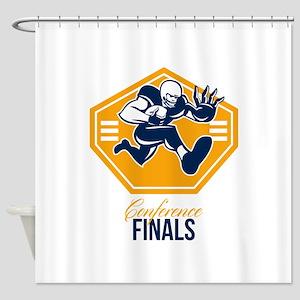 American Football Conference Finals Shield Retro S