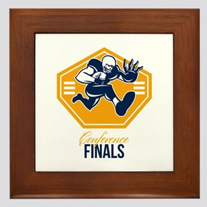 American Football Conference Finals Shield Retro F