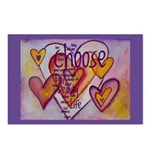 Love Hearts + Poem Words Postcards (Package of 8)