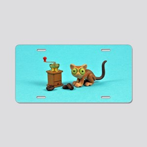 Tarsier Coffee Aluminum License Plate
