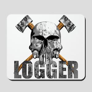 Logger Skull Mousepad