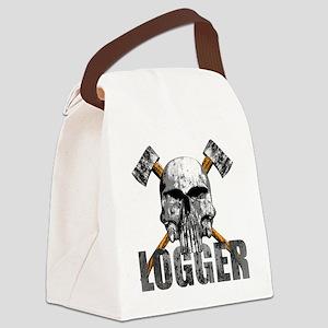 Logger Skull Canvas Lunch Bag
