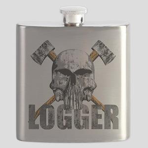 Logger Skull Flask