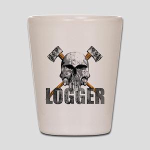 Logger Skull Shot Glass