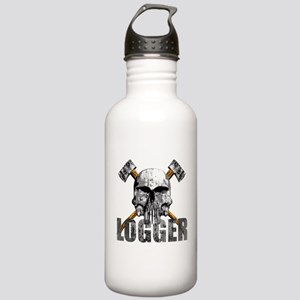 Logger Skull Water Bottle