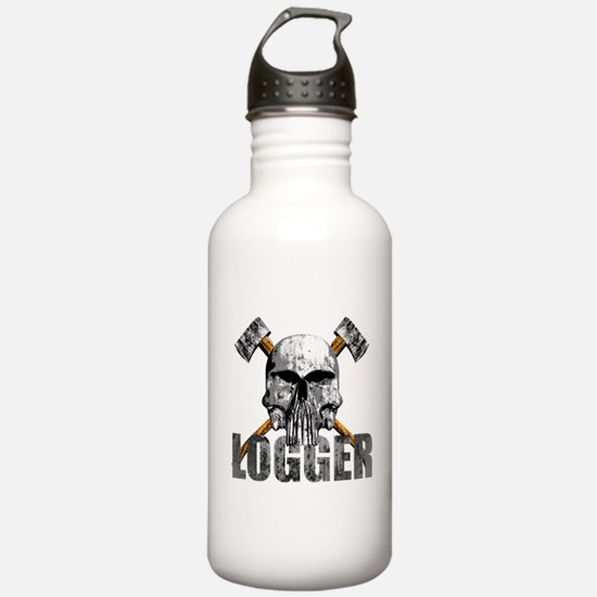 Logger Skull Water Bottle