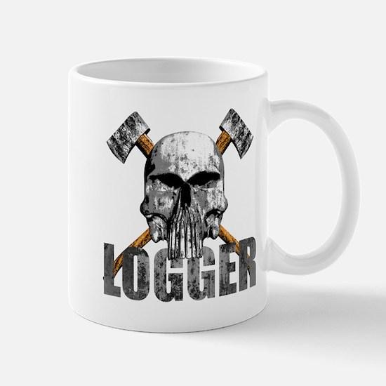 Logger Skull Mugs
