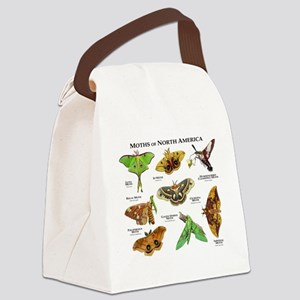 Moths of North America Canvas Lunch Bag
