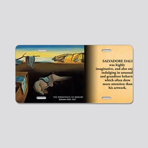 The Persistence Of Memory H Aluminum License Plate